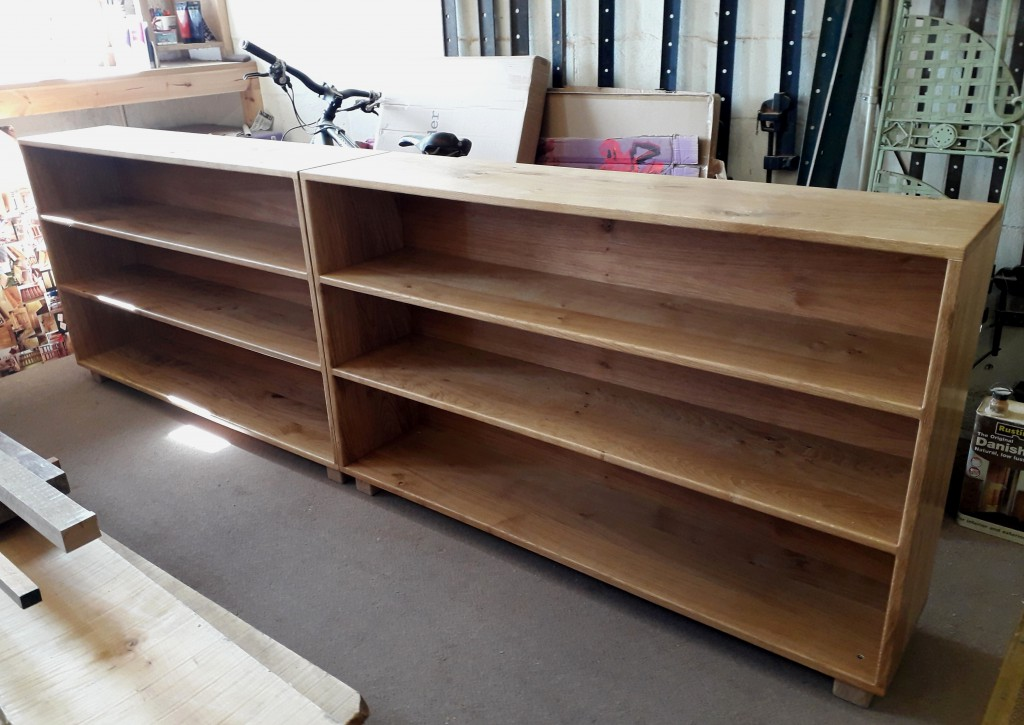 Oak Bookcases by Uniqueworks Handmade Furniture
