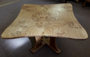 The Butterfly Tree Table Burr Oak Grain.  £650