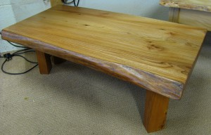 Live-Edge Elm Slab Coffee Table. Refurbished.  £280