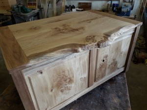 Elm & Oak Burr Natural Edge Chest.   £785