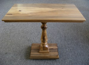 Spalted Beech Pedestal Occasional Table.  £250