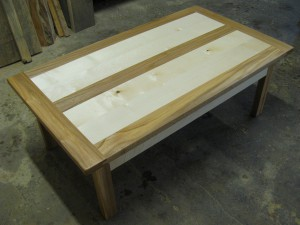 Sycamore & Dark Elm Panelled Coffee Table.  £650